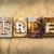 libre · signe · organisme · un · message · bois - photo stock © enterlinedesign