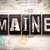 maine concept metal letterpress type stock photo © enterlinedesign