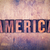 america theme letterpress word on wood background stock photo © enterlinedesign