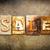 sale concept letterpress leather theme stock photo © enterlinedesign
