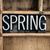 spring concept metal letterpress word in drawer stock photo © enterlinedesign