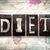diet concept metal letterpress type stock photo © enterlinedesign