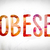 obese concept watercolor word art stock photo © enterlinedesign