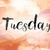 tuesday colorful watercolor and ink word art stock photo © enterlinedesign