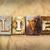 vivre · métal · type · mot · écrit - photo stock © enterlinedesign