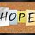 remény · közlöny · tábla · illusztráció · szó · írott - stock fotó © enterlinedesign