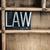 法制 · 言葉 · 木製 · 書かれた · タイプ - ストックフォト © enterlinedesign