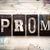 prom concept metal letterpress type stock photo © enterlinedesign