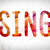 sing concept watercolor word art stock photo © enterlinedesign