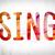 retrato · três · jovem · atraente · mulheres · cantando - foto stock © enterlinedesign