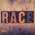 race concept wooden letterpress type stock photo © enterlinedesign