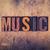 muziek · woord · houten · geschreven · type - stockfoto © enterlinedesign