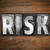 リスク · 言葉 · 木材 · タイプ · 文字 - ストックフォト © enterlinedesign