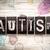 自閉症 · タイプ · 言葉 · 書かれた · ヴィンテージ - ストックフォト © enterlinedesign