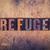 refuge concept wooden letterpress type stock photo © enterlinedesign