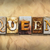 queen concept rusted metal type stock photo © enterlinedesign