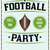 american football party illustration flyer poster stock photo © enterlinedesign