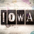 iowa concept metal letterpress type stock photo © enterlinedesign