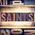 saints concept letterpress type stock photo © enterlinedesign