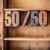 5050 concept wooden letterpress theme stock photo © enterlinedesign
