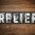 relief concept metal letterpress type stock photo © enterlinedesign