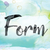 form colorful watercolor and ink word art stock photo © enterlinedesign