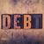 debito · legno · tipo · parola · scritto - foto d'archivio © enterlinedesign