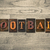 football wooden letterpress concept stock photo © enterlinedesign