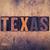 texas concept wooden letterpress type stock photo © enterlinedesign