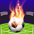 flaming soccer football background stock photo © enterlinedesign
