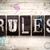 kurallar · Metal · tip · kelime · yazılı - stok fotoğraf © enterlinedesign