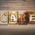 bizalom · fából · készült · magasnyomás · szó · írott · klasszikus - stock fotó © enterlinedesign