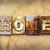 home concept rusted metal type stock photo © enterlinedesign