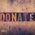 благотворительность · слово · древесины · тип · изолированный · Vintage - Сток-фото © enterlinedesign