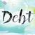 borç · suluboya · kelime · sanat · yazılı · beyaz - stok fotoğraf © enterlinedesign