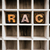 race concept wooden letterpress type in drawer stock photo © enterlinedesign