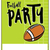american football party template illustration stock photo © enterlinedesign