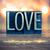 liefde · woord · metaal · type · vintage · afdrukken - stockfoto © enterlinedesign