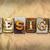 projeto · enferrujado · metal · tipo · palavra · escrito - foto stock © enterlinedesign