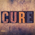 cure concept wooden letterpress type stock photo © enterlinedesign
