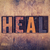 heal concept wooden letterpress type stock photo © enterlinedesign
