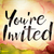 youre invited concept watercolor theme stock photo © enterlinedesign