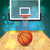 realistisch · basketbalveld · illustratie · hardhout · eps - stockfoto © enterlinedesign