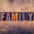 family concept wooden letterpress type stock photo © enterlinedesign