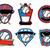 baseball and bat emblems and badges stock photo © enterlinedesign