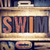 泳ぐ · 木製 · タイプ · 言葉 · 書かれた - ストックフォト © enterlinedesign