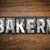 bakery concept metal letterpress type stock photo © enterlinedesign