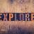 keşfetmek · kelime · ahşap · tip · yalıtılmış - stok fotoğraf © enterlinedesign