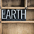earth concept metal letterpress word in drawer stock photo © enterlinedesign