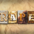 rape concept rusted metal type stock photo © enterlinedesign